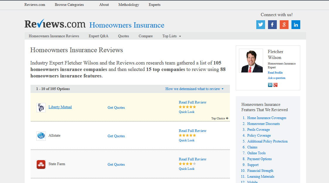 State farm customer ratings and autos weblog for Home insurance reviews
