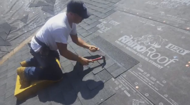 Hand Nailing Roofing Shingles U2013 Winston Salem, NC Hodges Roofing